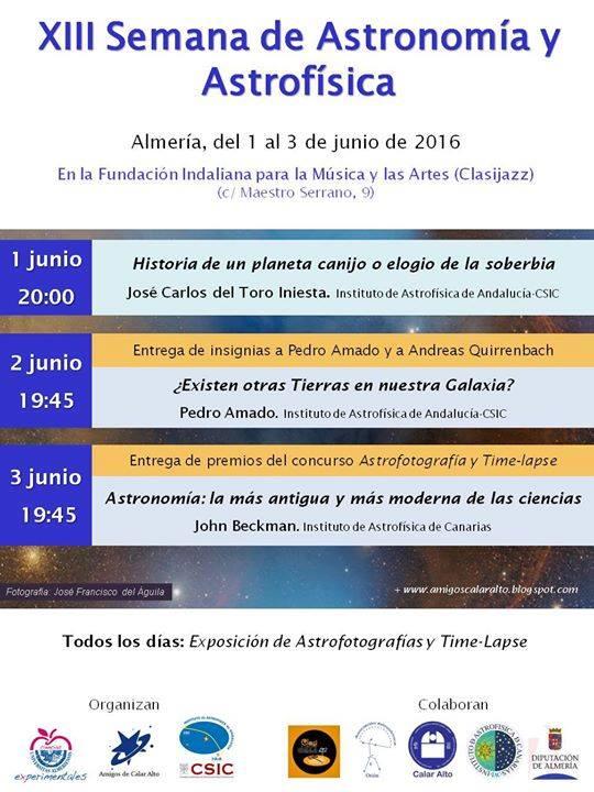 2016_XIII Semana de Astronomía y Astrofísica Almería